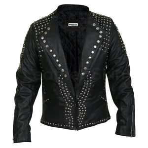 mens jacket with cone spikes