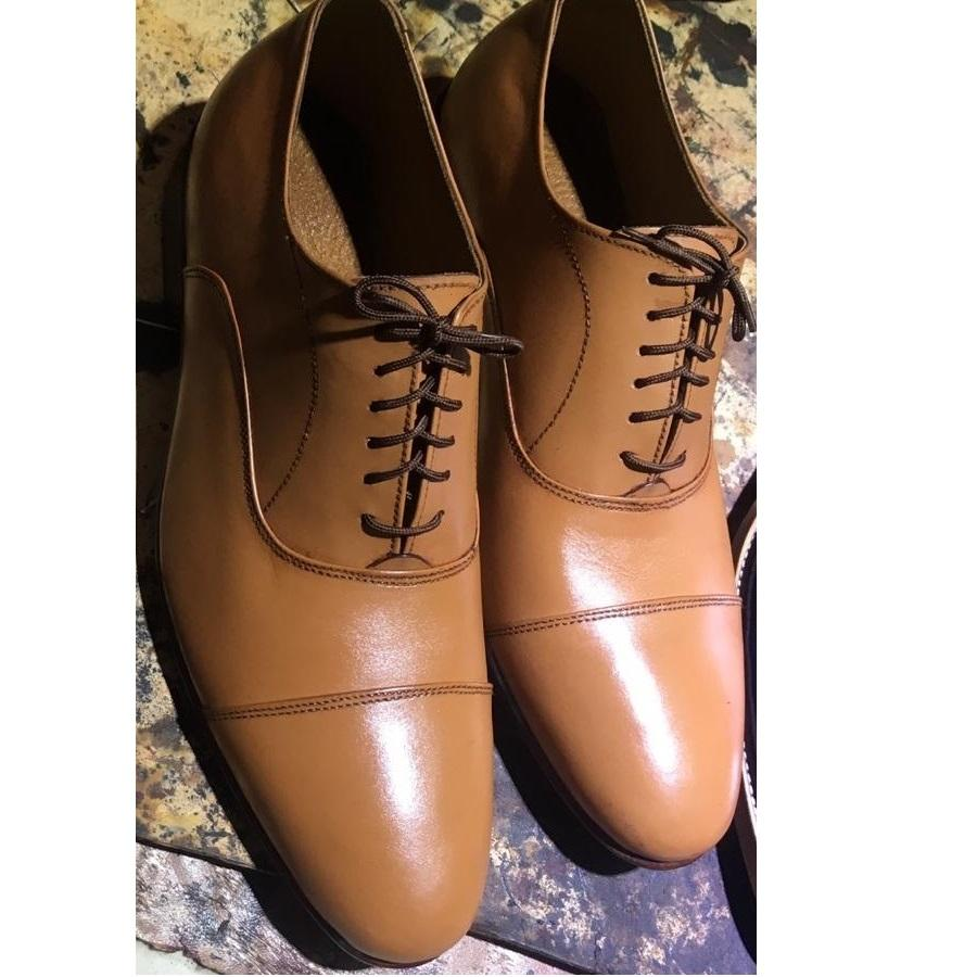 Men Tan Leather Shoes