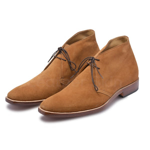 Men Tan Suede Chukka Leather Boots