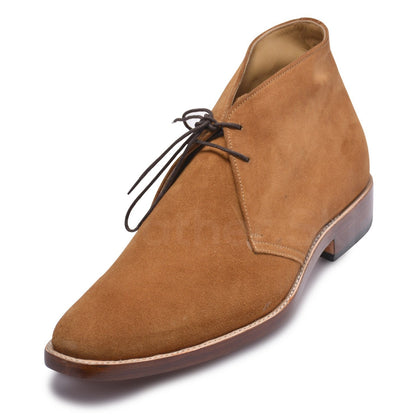 chukka boots in tan color mens