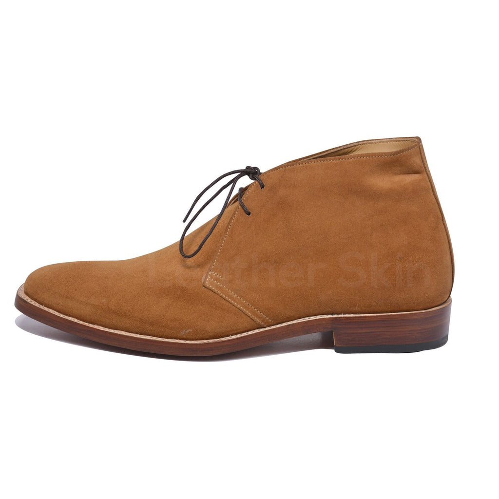chukka suede leather boots mens