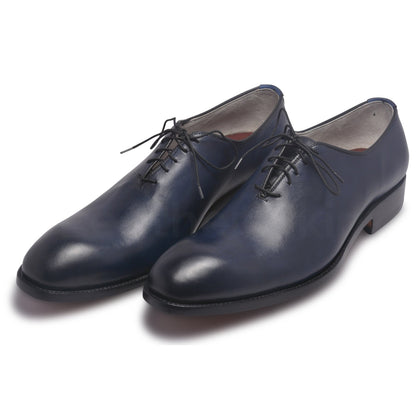 mens blue genuine leather shoes