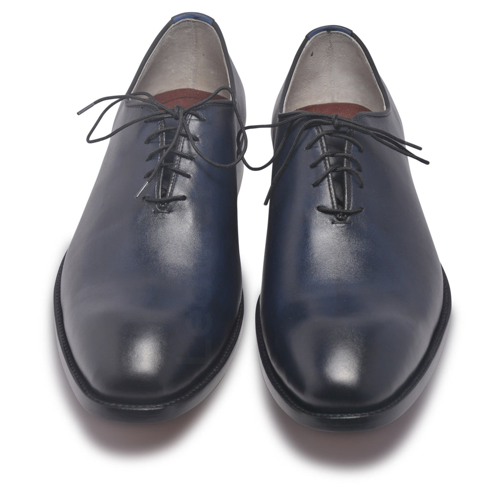 blue genuine leather shoes for men