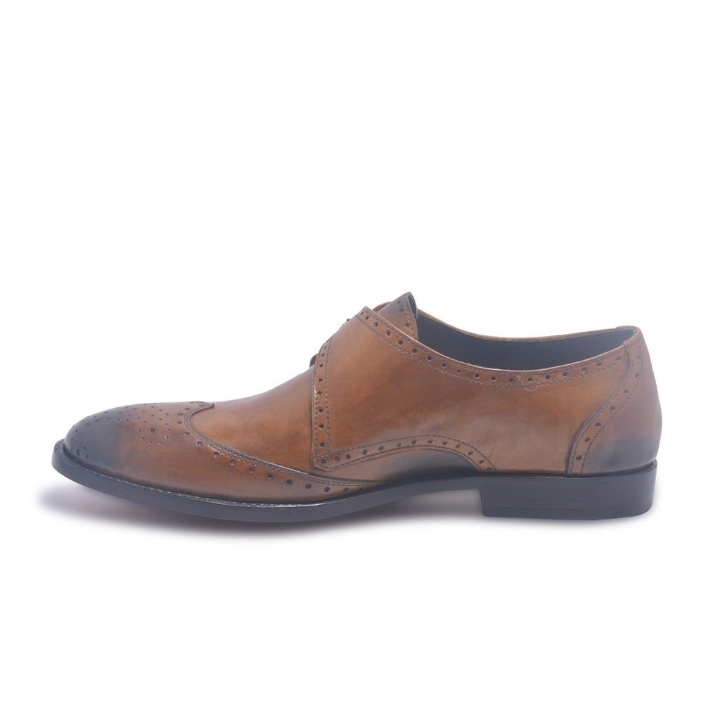 monk strap shoes for men in brown color