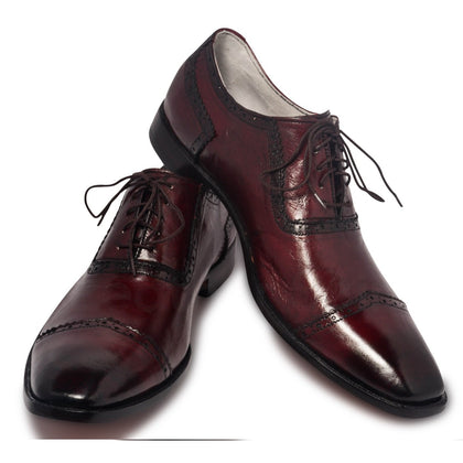 oxford red shoes mens two tone