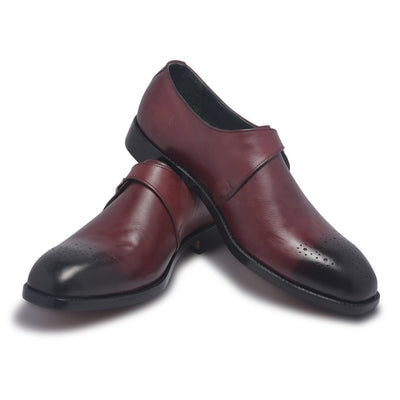 mens genuine leather shoes with strap