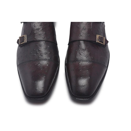 Monk Strap shoes with ostrich design