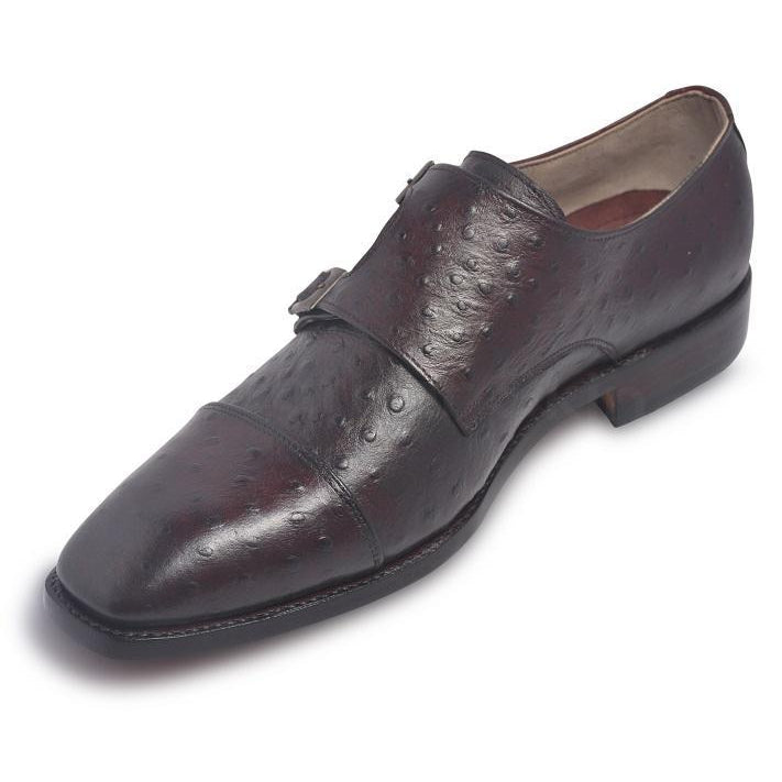 ostrich shoes in monk strap style
