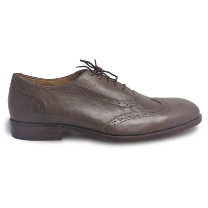 Men Wingtip Brown Leather Shoes