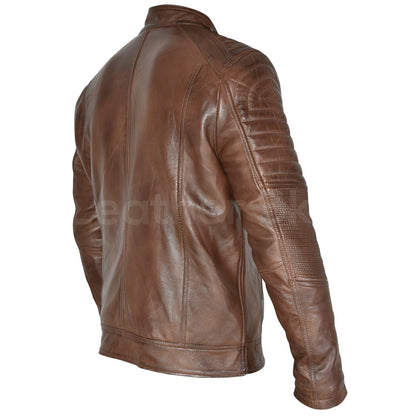 cafe racer leather jacket mens