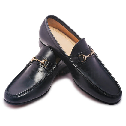 mens bit loafer with gold decoration