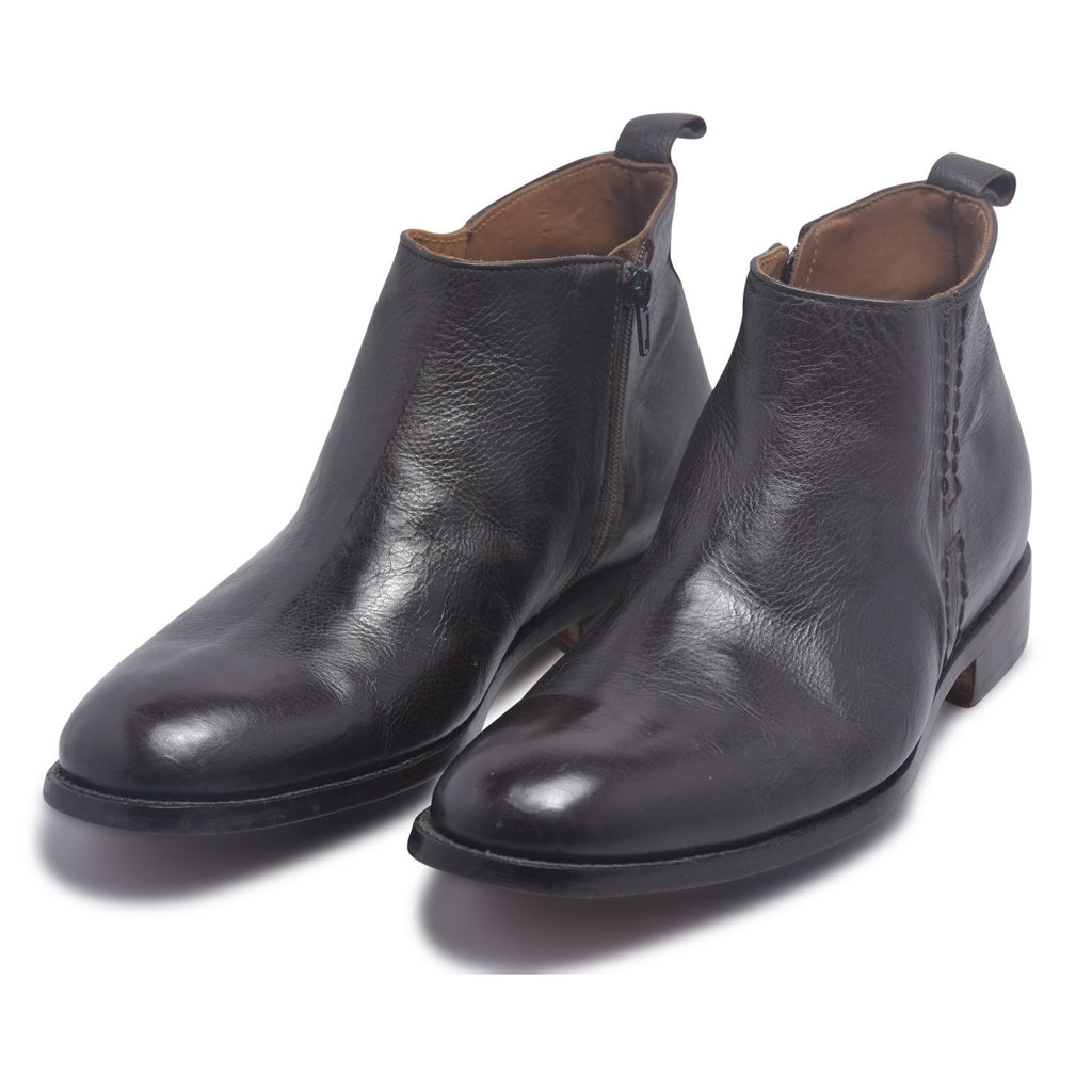 mens boots with zipper on side