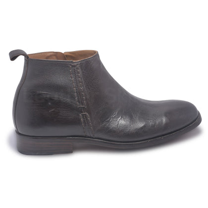mens side zip leather boots