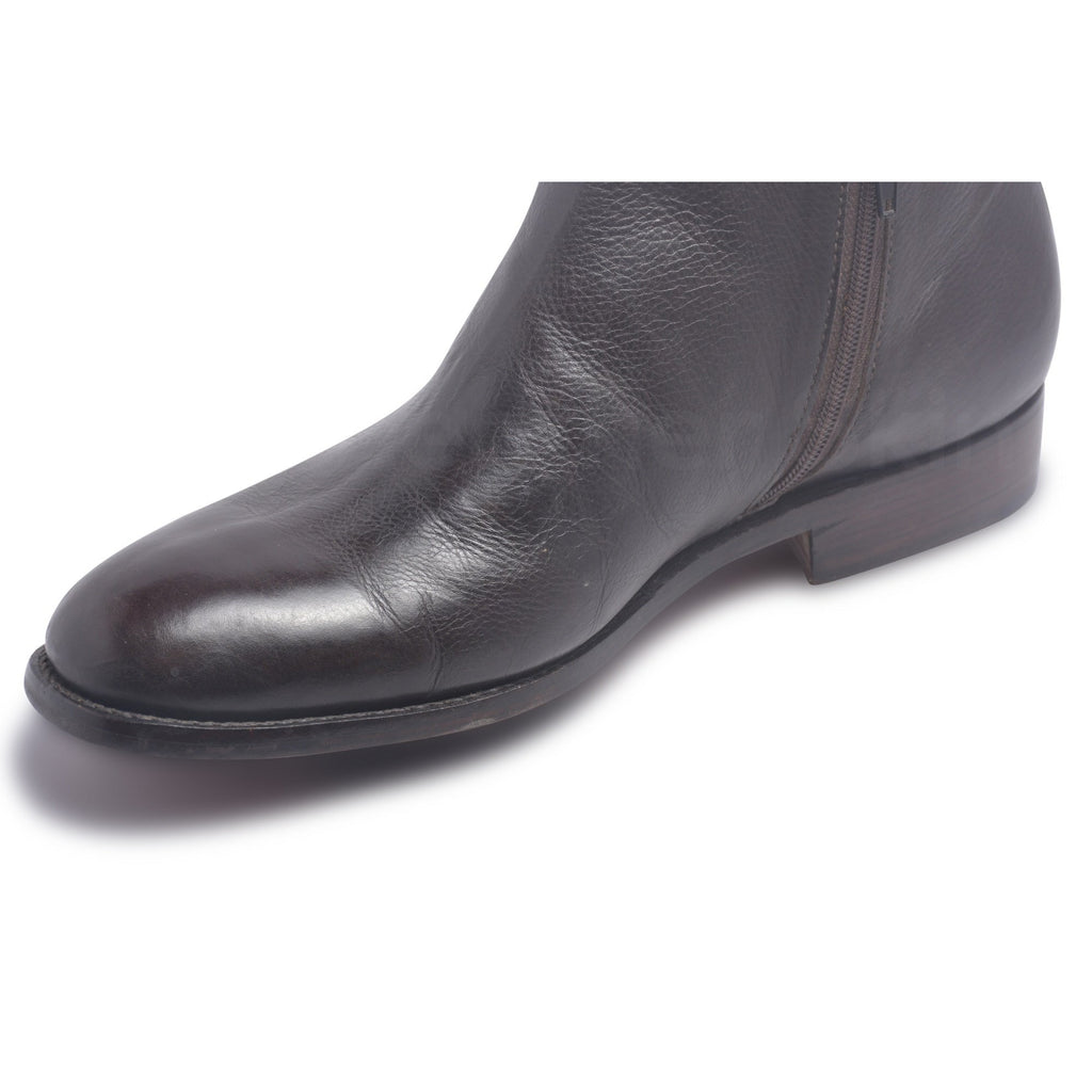 black boots with zippers for men