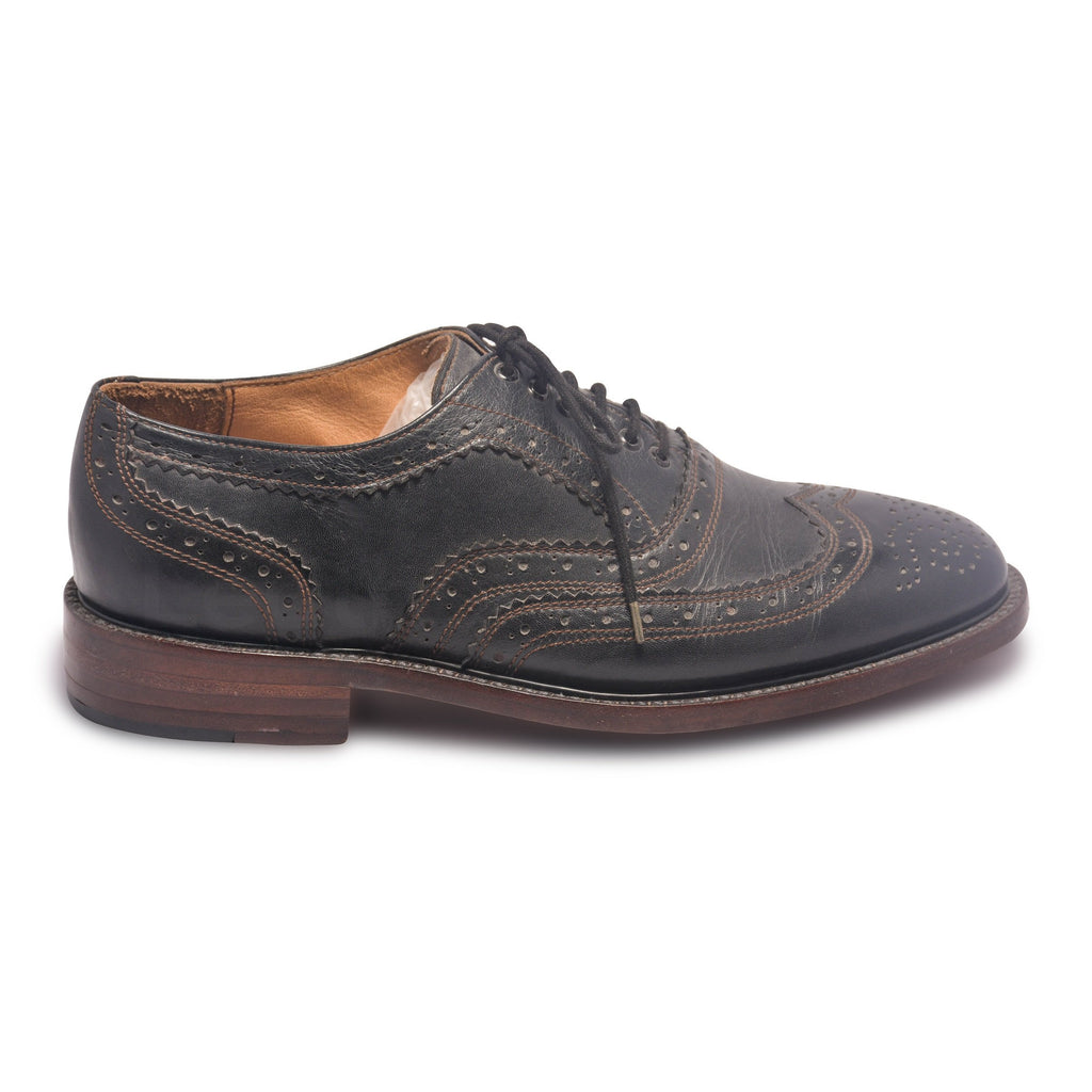 black leather shoes mens wingtip