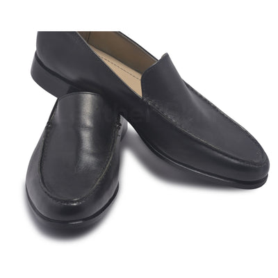 slip on leather shoes mens in black color