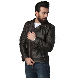 Supremacy Brown Biker Leather Jacket