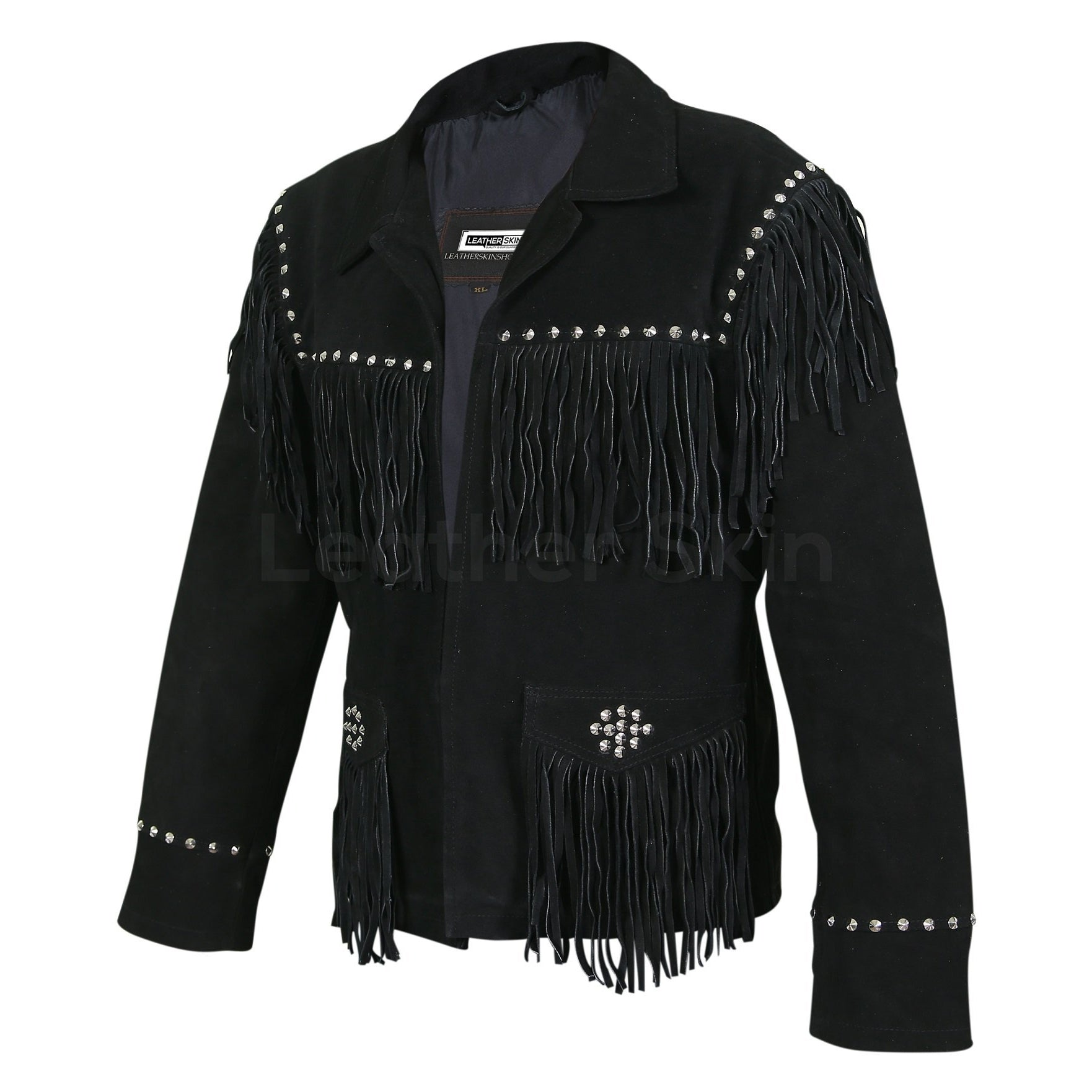 black spike leather jacket