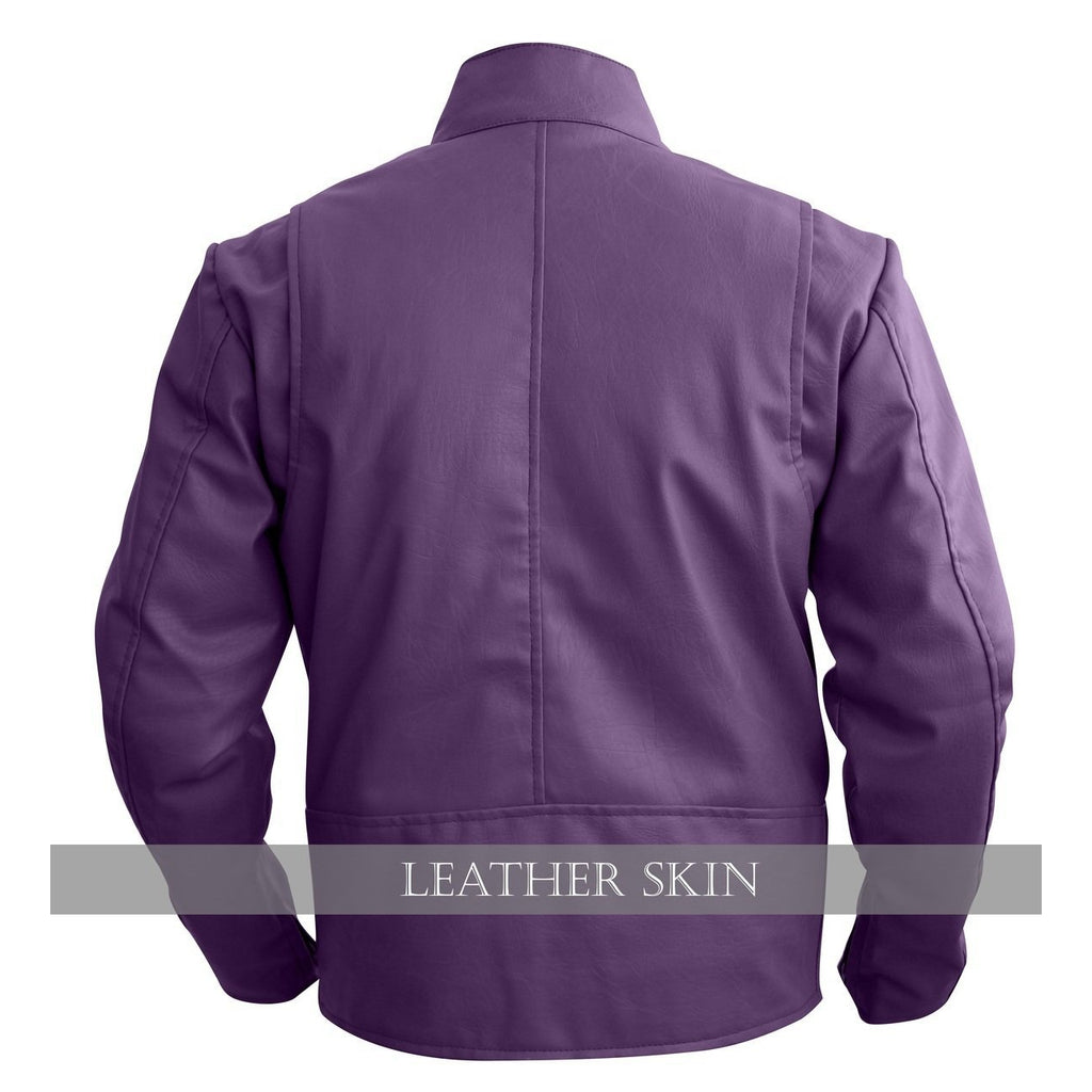 NWT Stylish Purple Men Stylish Synthetic  Leather Jacket