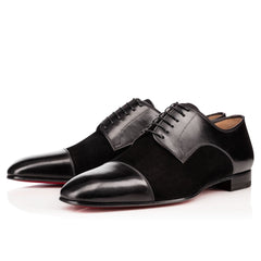 Men Black Suede & Genuine Leather Handmade Shoes