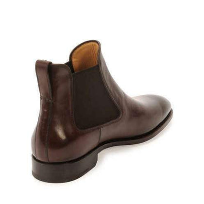 Men Brown Chelsea Genuine Leather Boots