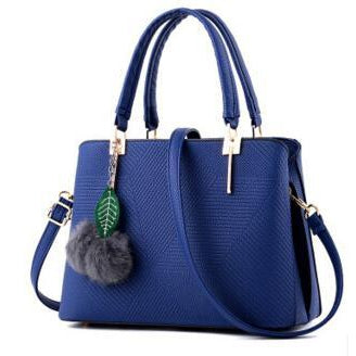 Women Sapphire Blue Tote Cross-Body Handbag