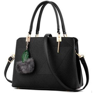 Women Black Tote Cross-Body Handbag
