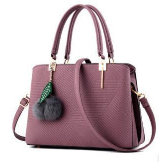 Women Purple Tote Cross-Body Handbag