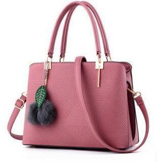 Women Pink Tote Cross-Body Handbag