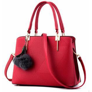 Women Red Tote Cross-Body Handbag
