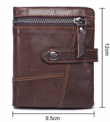 Coffee Colour Genuine Leather Men's Wallet with Premium Designing and Stitching