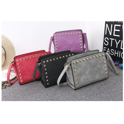 Women Multicolor Crossbody Sling Studded Leather Bag