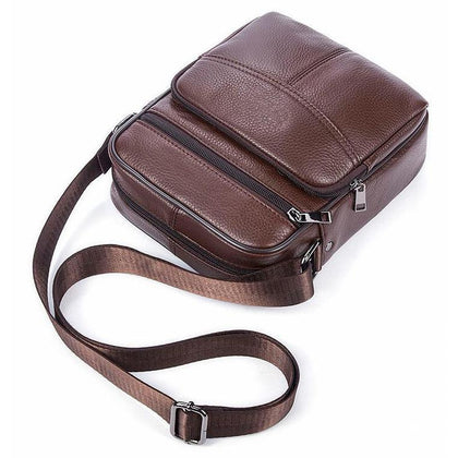 Casual Style and Genuine Cow Leather Messenger Handbag for Men