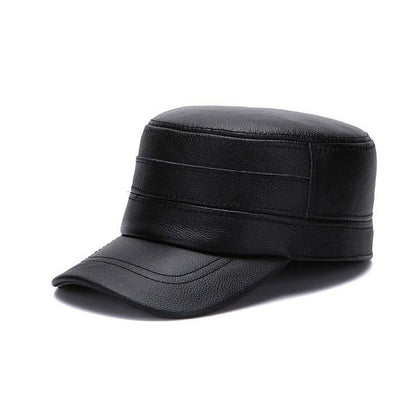 Men Military Leather Cap with Impeccable Quality
