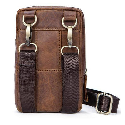 Premium Casual Waist Pack Made with Original Leather for Travelling Purposes