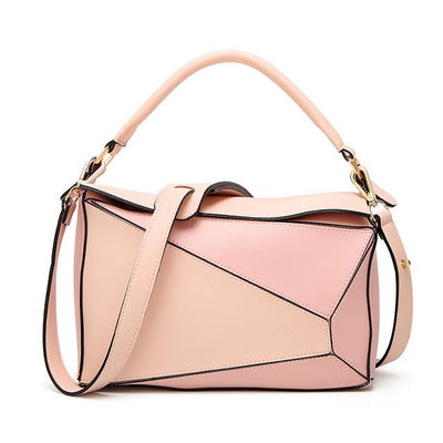 Women Pink Tote Messenger Bag with Pillow Shape Design