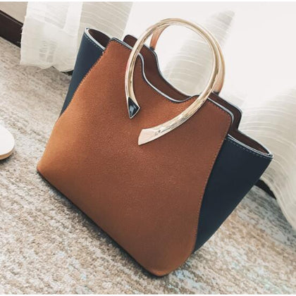 Women Brown Tote Leather Handbag Front