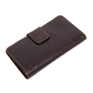 Trendy and Unique Design Genuine Leather Credit Card Holder Wallet for Men