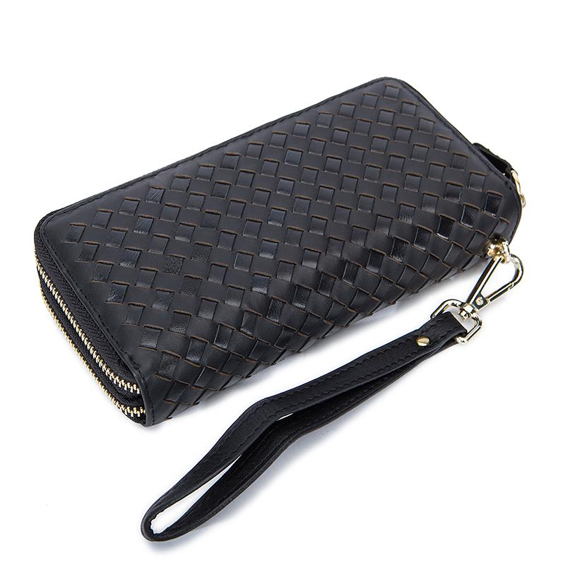 Trendy and Stylish Woven Style Men Clutch Long Genuine Leather Wallet