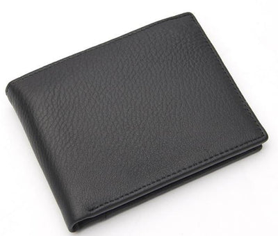 Men Premium and Rich Classic Black Genuine Leather Men Wallet