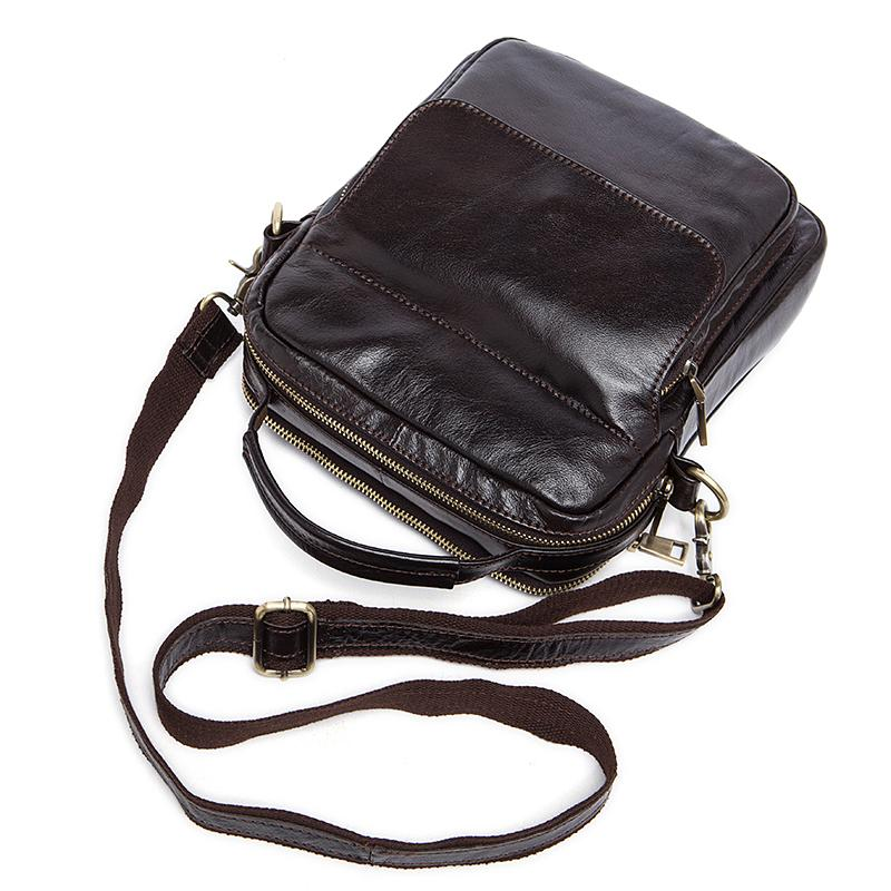 Men Genuine Leather Fashionable and Trendy Travel Shoulder Bag