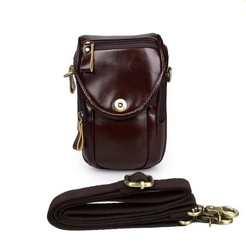 Men Brown Genuine Leather Mini Bag