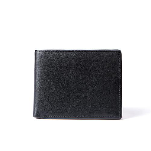 Men Foldable Wallet Made with 100% Genuine Leather and No Zippers