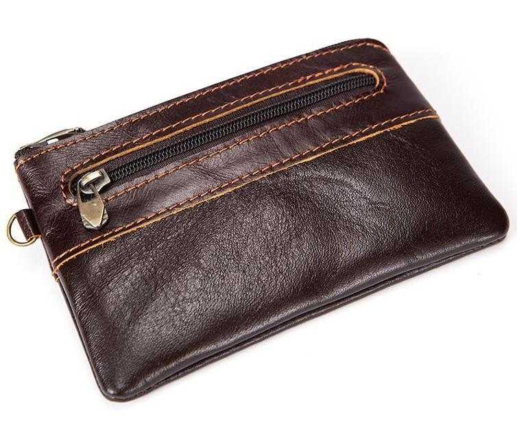 Trendy and Stylish Natural Leather Coin Purse and Card Holder