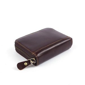 Plush Quality Genuine Cowhide Leather Coffee Color Wallet for Men