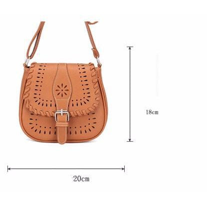 Brown Color Crossbody Messenger Handbag Dimensions 20cm x 18cm x 5cm