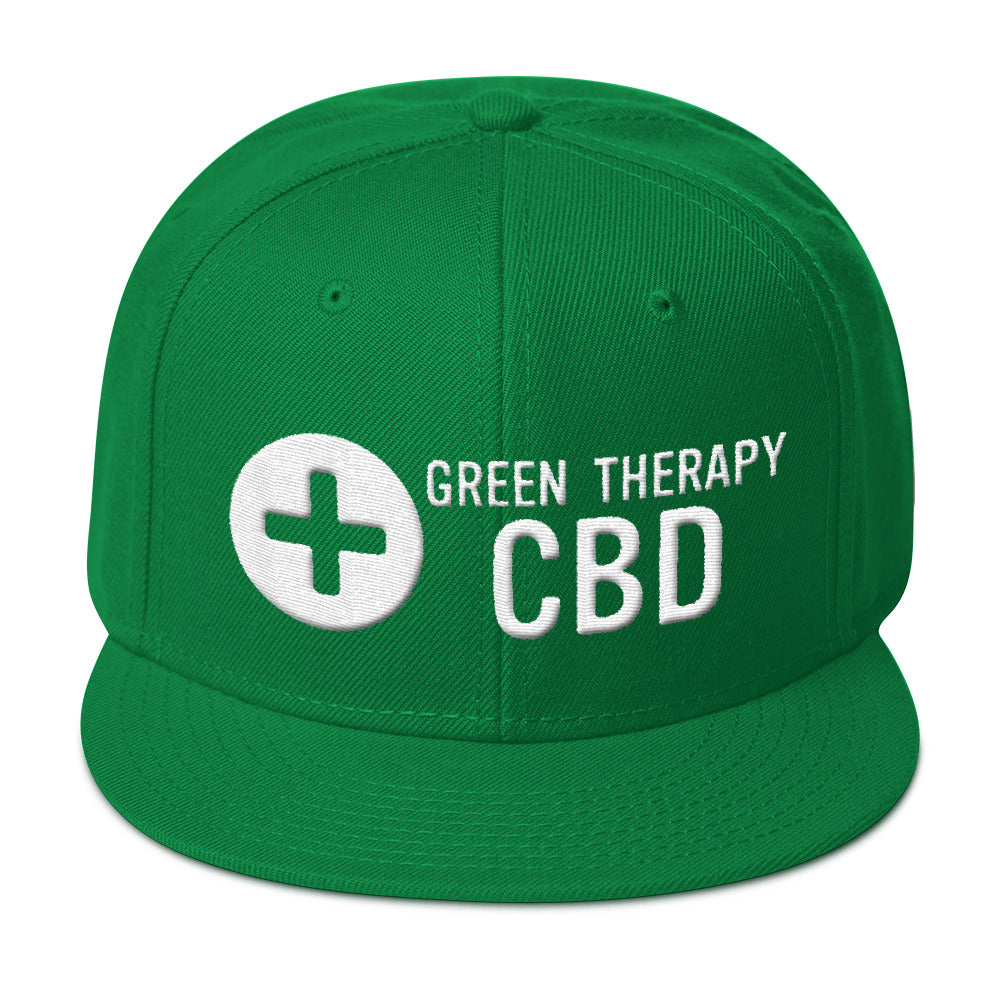 Green on Green Therapy Snapback Hat