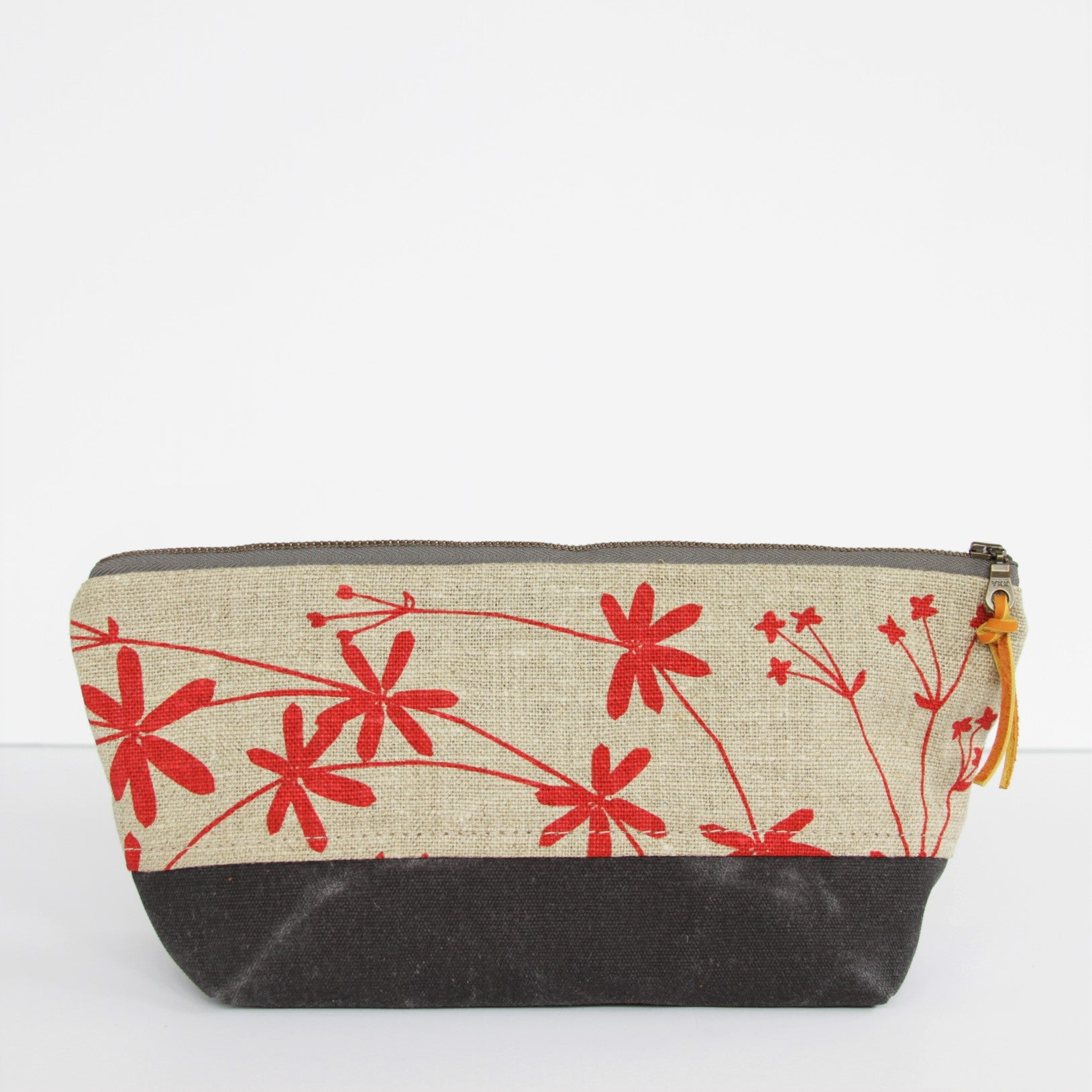 Triangle Pencil Pouch - Bedstraw in Peony