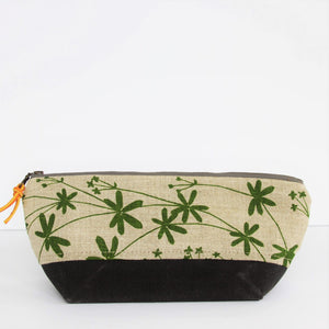 Triangle Pencil Pouch - Bedstraw in Leaf