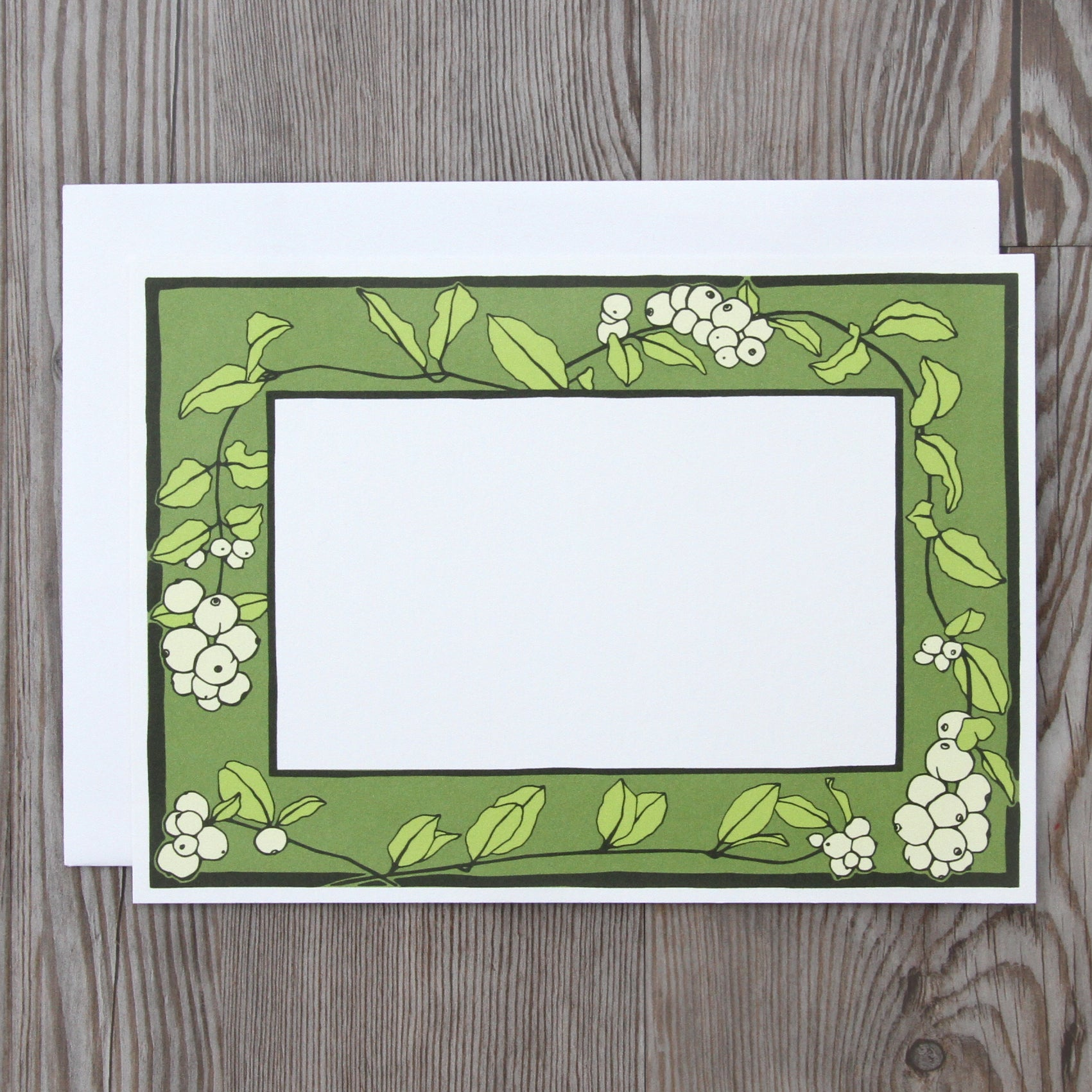6 Snowberry Notecards